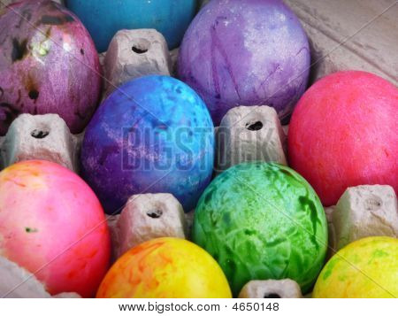 Rainbow Eggs In Carton
