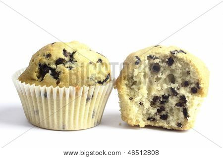 Close u of muffins on the white background