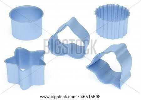 Set Of Blue Color Baking Form