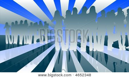 Business collage of images multi with blue background poster