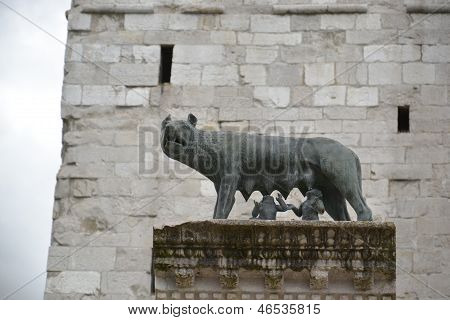Foundation of Rome landmark - Italy