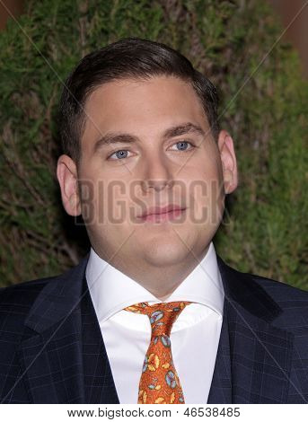 LOS ANGELES - FEB 6:  JONAH HILL arrives to the 2012 Academy Awards Nominee Luncheon  on Feb 6, 2012 in Beverly Hills, CA