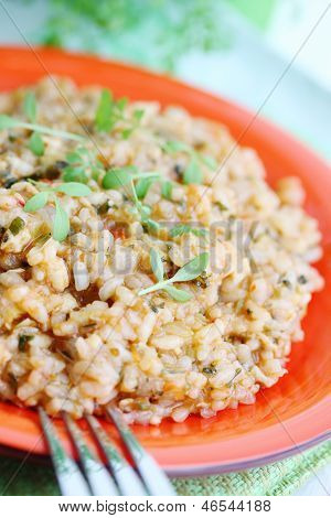 Risotto With Salad