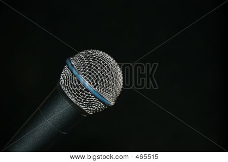 Microphone Isolated On Black