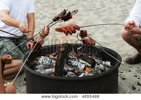 Barbeque On The Beach