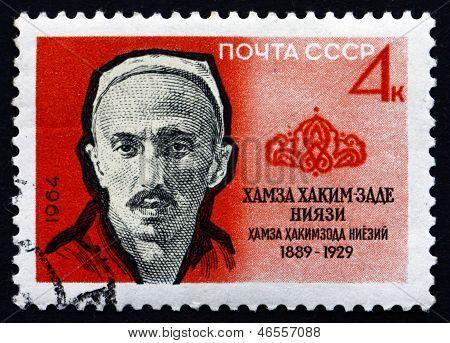 Postage Stamp Russia 1964 Hamza Hakimzade Niyazi, Uzbek Author