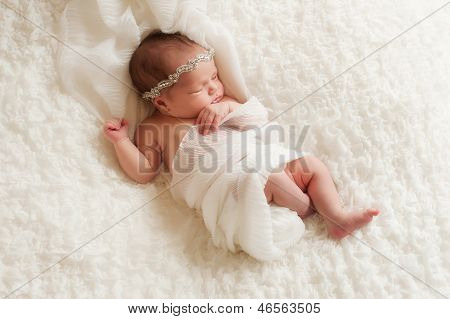 Portrait Of An Angelic Newborn Girl