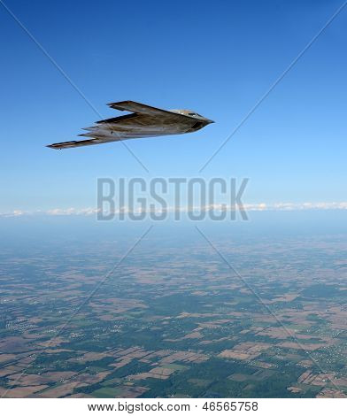 Stealth Bomber In Flight