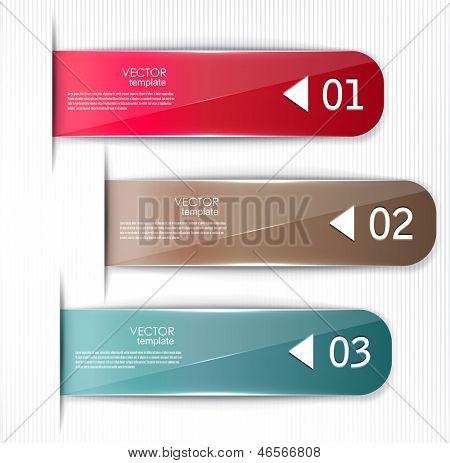 Satz von Lesezeichen, Aufkleber, Etiketten, Tags. Vektor Vorlage für Infografiken