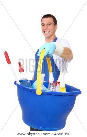 Handsome Man Cleaner
