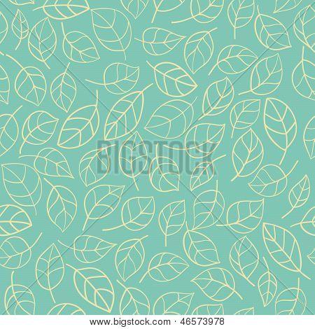 Seamless stylized leafs pattern