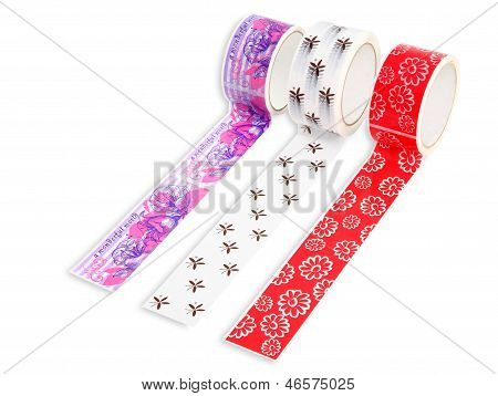 Packing Tape With Print. Masking Tape For Gift Wrapping. Packing Accessories