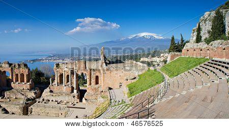 Ruins Of The Greek Theater, Taormina