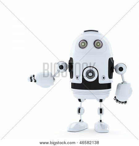 Posing Android Robot