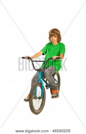 Teen Boy With Bike