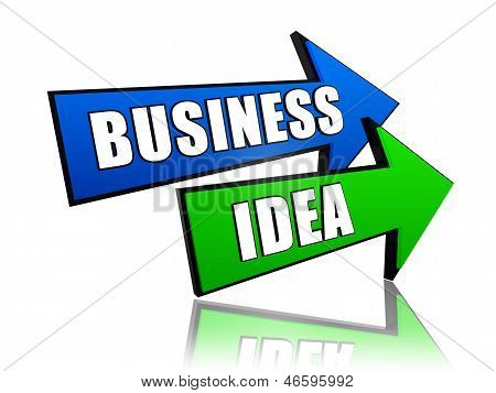 Business Idea In Arrows