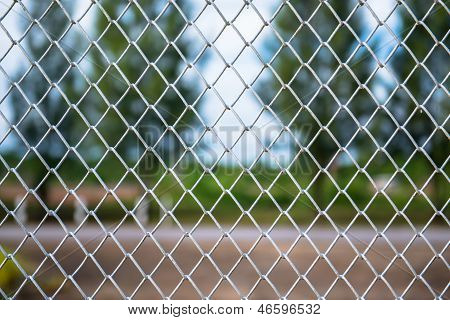 Metallic Wire Chain Link Fence