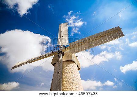 Windmill In Jerusalem