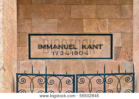 KALININGRAD, RUSSIA - may 12, 2013: Tomb Of Immanuel Kant. Kaliningrad (until 1946 Koenigsberg)