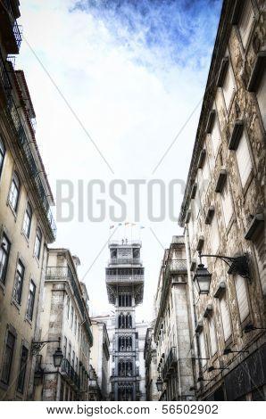 Santa Justa Lift in Lisbon, Portugal