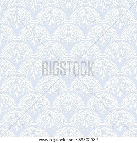 Art deco vector geometric pattern in silver white.