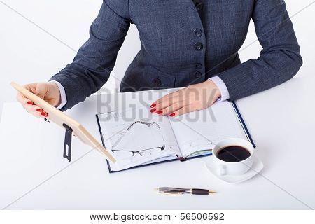 Modern Active Woman At Work