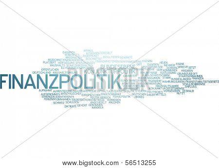 Word cloud -  financial politics