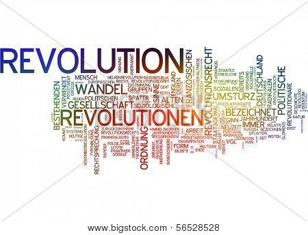 Wort-Wolke - revolution