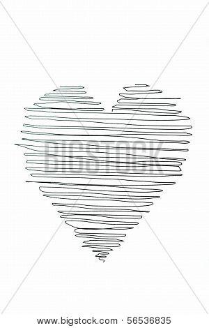 Drawn heart