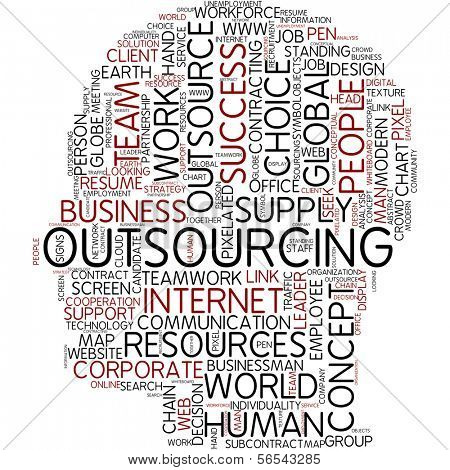 Info-text graphic - outsourcing