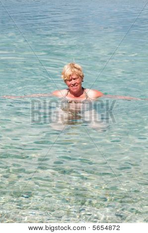 Swimming Old Woman
