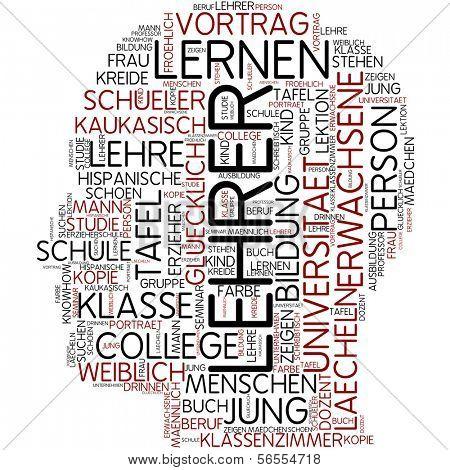 Info-text graphic - teacher poster