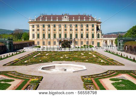 Crown prince privy garden of Schonbrunn Palace in Vienna, Austria