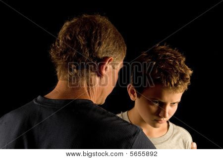 Father and son arguing