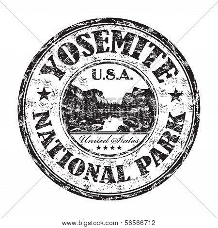 Yosemite grunge rubber stamp