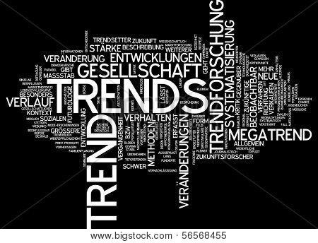 Word cloud - trend