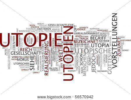 Word cloud - utopia