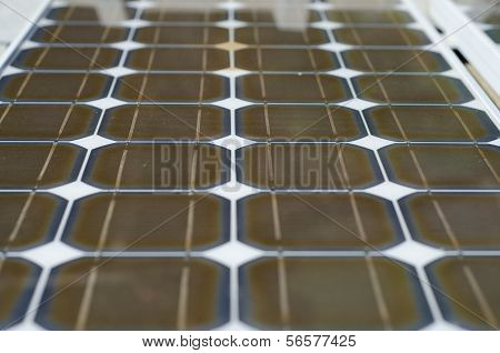 Close Up Of Solar Panels.