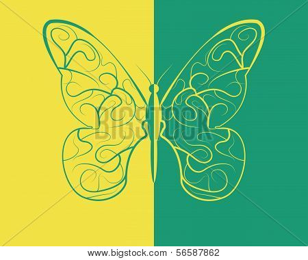 Two-color butterfly