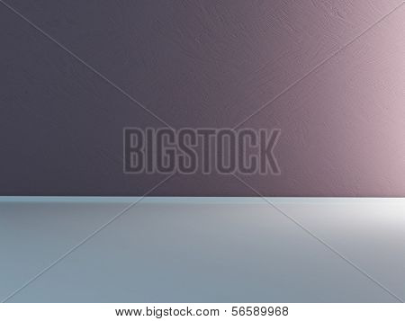 Emtpy room interior with light violet wall
