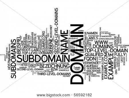 Word cloud - domain