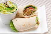 falafel pita bread roll wrap sandwich traditional arab middle east food poster