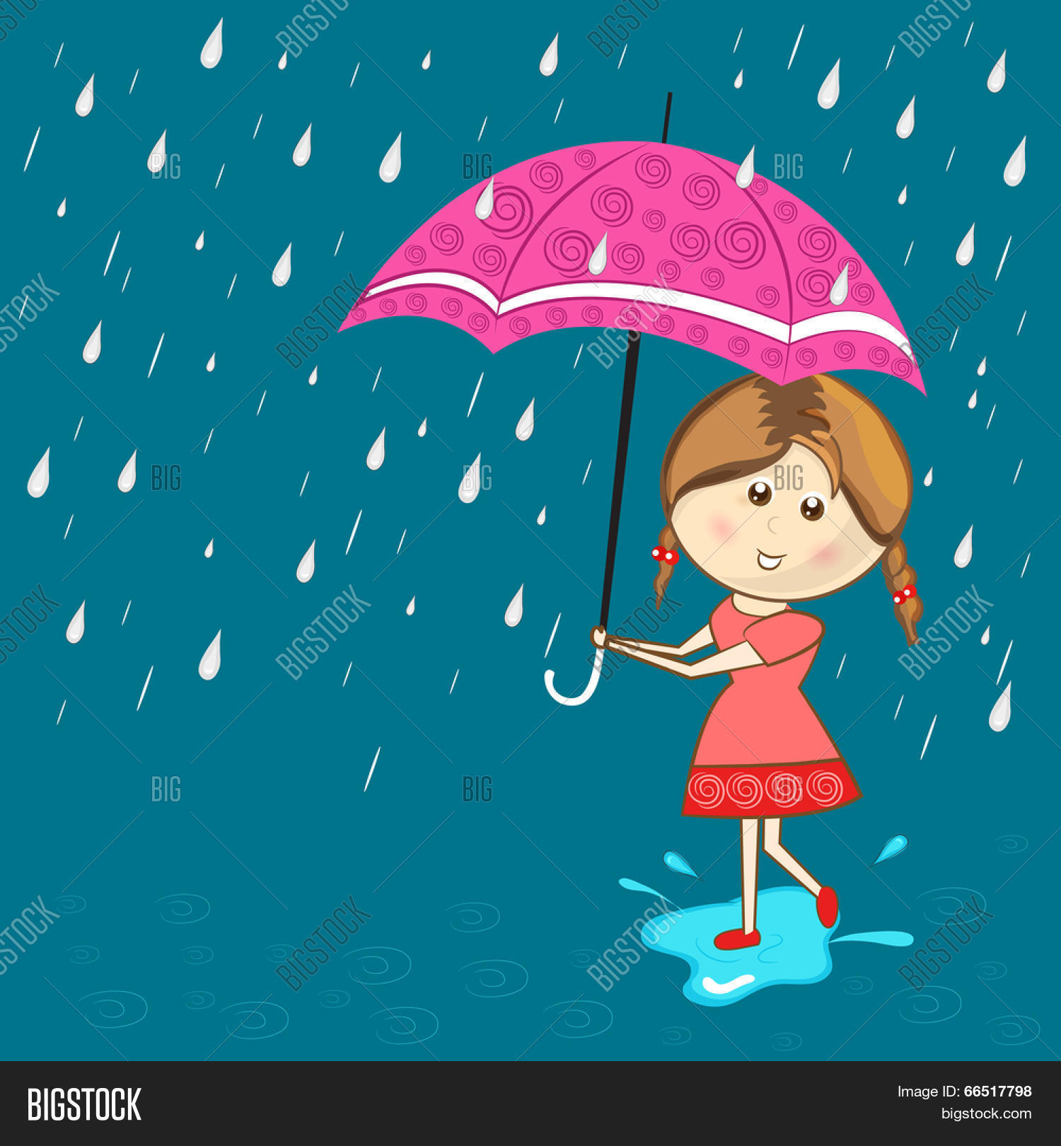 Cute Little Girl Vector Photo Free Trial Bigstock