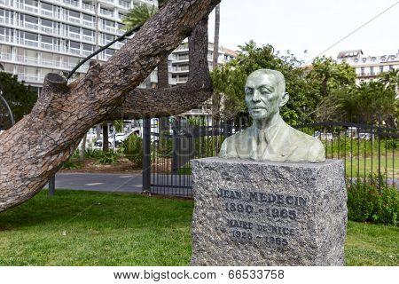 Statue To Jean Medecin In Nice