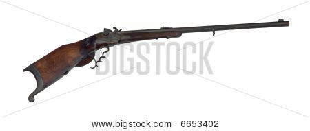 Long-range Hunting Rifle Of 19Th Century Cutout