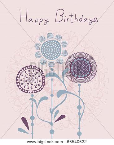 Floral Birthday Background
