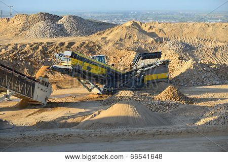 Rock Crusher on Job Site
