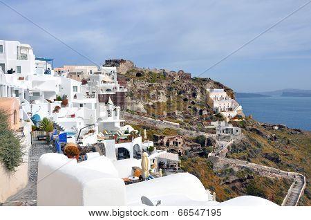 village oia on greek island santorini