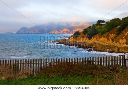 California Coast at sunset