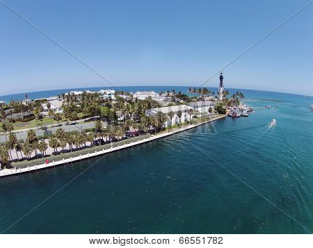 Coastal Lighthouse In Pompano Beach, Florida